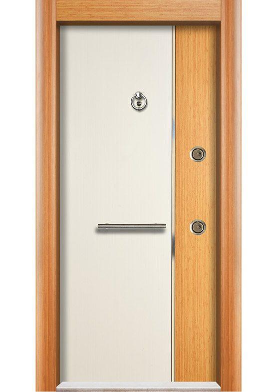 çelik kapı bambu beyaz