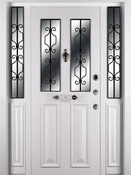 beyaz bina giriş kapısı apartman kapısı smar çelik kaı
