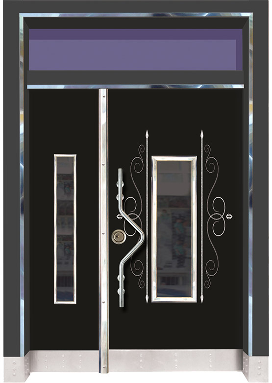 Apartman Bina Giriş Kapısı BK019