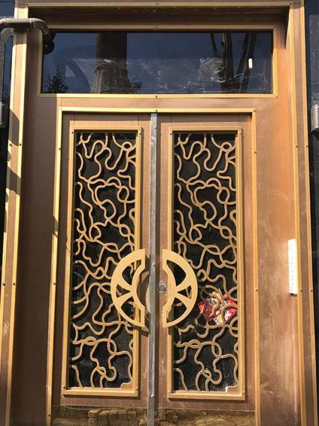 desenli bina giriş kapısı modelleri