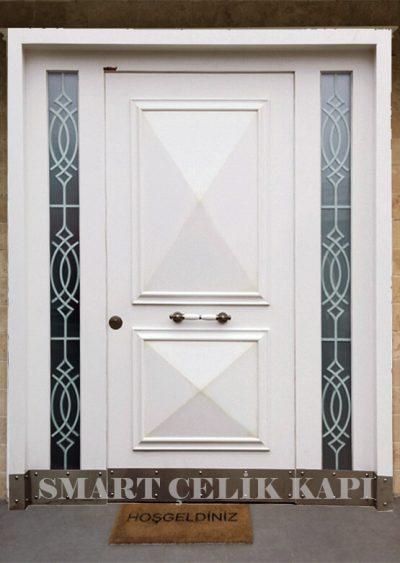 villa kapısı modelleri 2019 kompozit beyaz