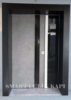 Siyah Gri Villa Giriş Kapısı Kompozit DİLARA