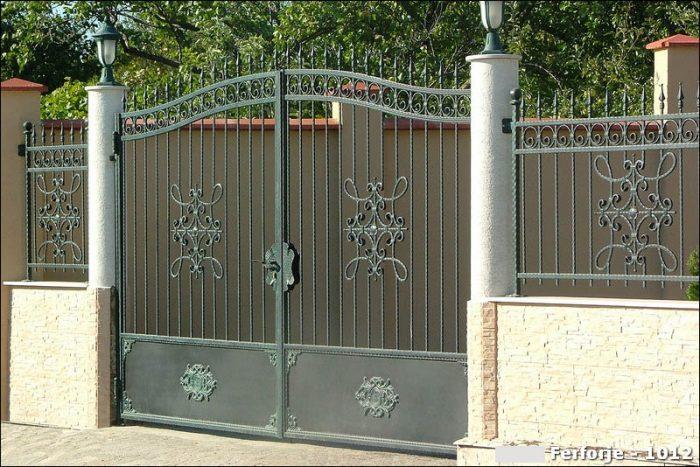 Ferforje Bahçe Kapısı Modelleri Sürgülü Otomatik Demir Kapı 1012