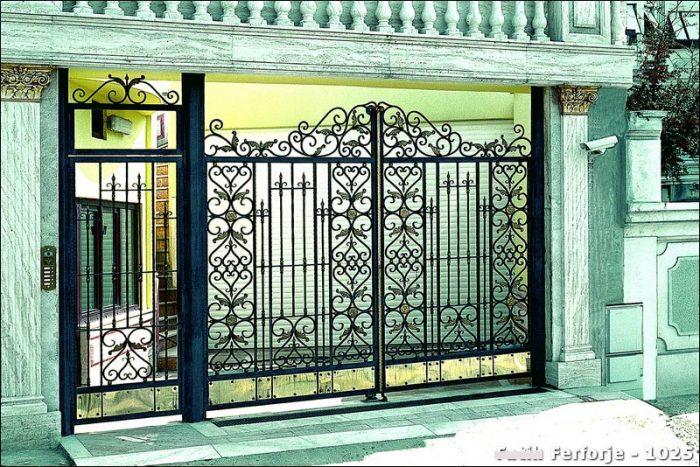 Ferforje Bahçe Kapısı Modelleri Sürgülü Otomatik Demir Kapı 1025
