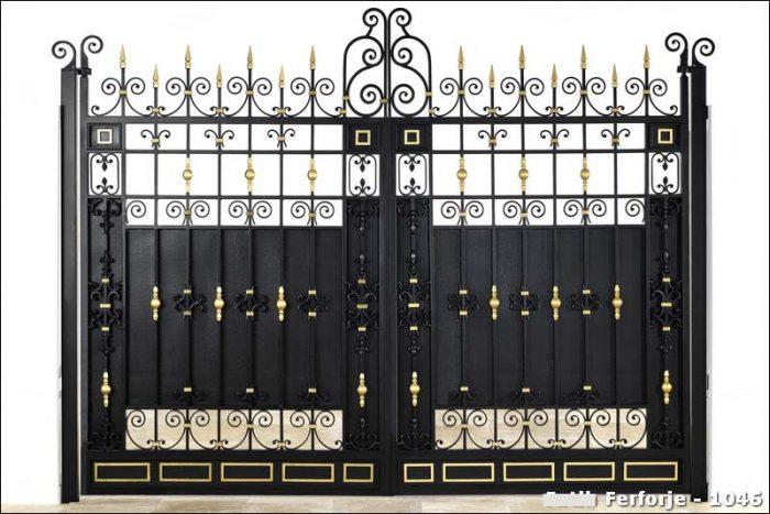 Ferforje Bahçe Kapısı Modelleri Sürgülü Otomatik Demir Kapı 1046