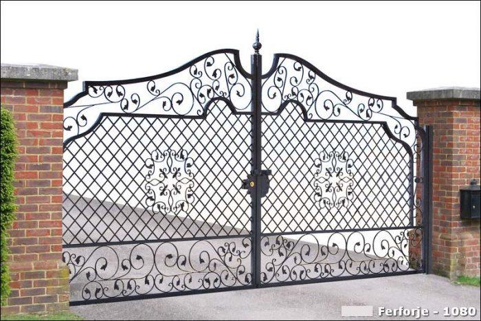 Ferforje Bahçe Kapısı Modelleri Sürgülü Otomatik Demir Kapı 1080