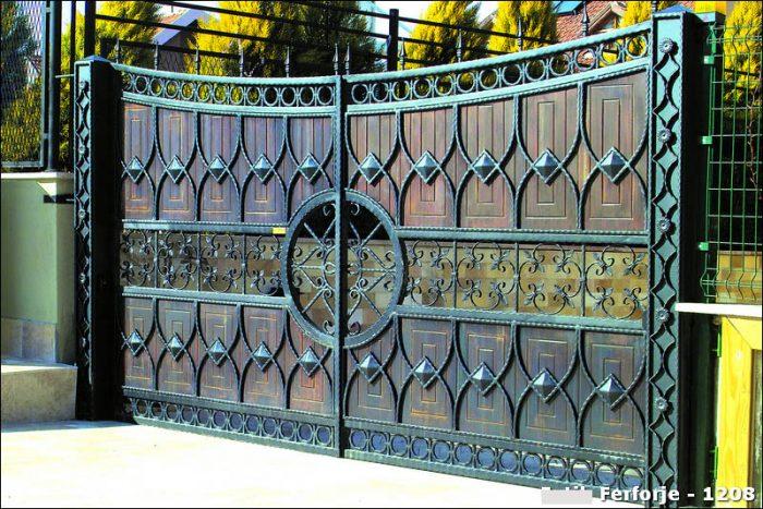 Ferforje Bahçe Kapısı Modelleri Sürgülü Otomatik Demir Kapı 1208
