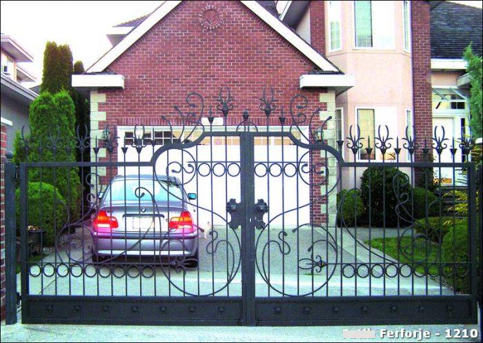 Ferforje Bahçe Kapısı Modelleri Sürgülü Otomatik Demir Kapı 1210