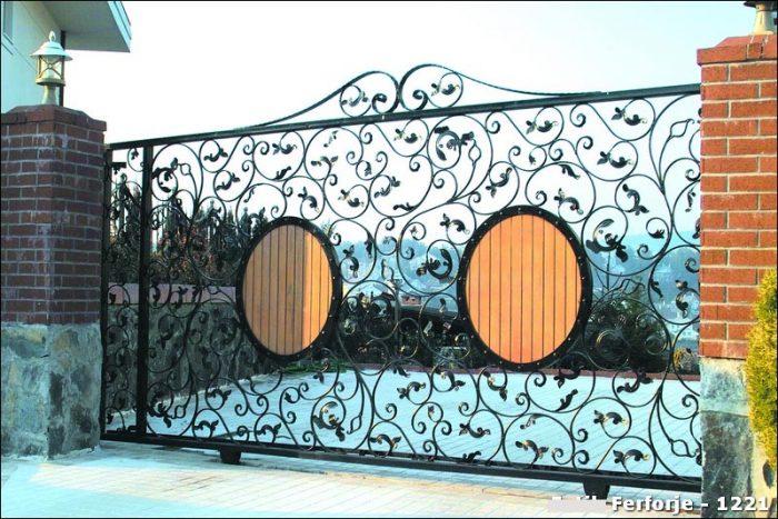 Ferforje Bahçe Kapısı Modelleri Sürgülü Otomatik Demir Kapı 1221