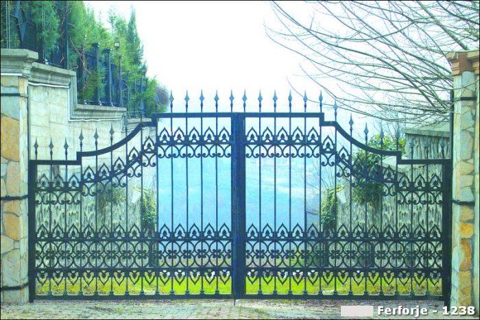 Ferforje Bahçe Kapısı Modelleri Sürgülü Otomatik Demir Kapı 1238