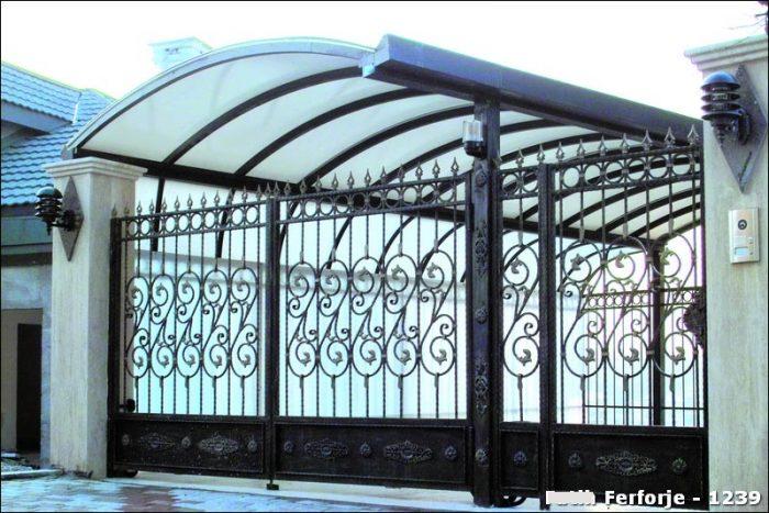 Ferforje Bahçe Kapısı Modelleri Sürgülü Otomatik Demir Kapı 1239