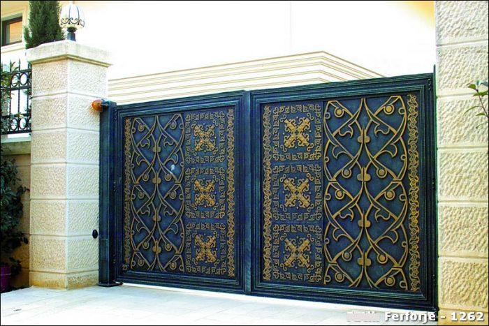 Ferforje Bahçe Kapısı Modelleri Sürgülü Otomatik Demir Kapı 1262