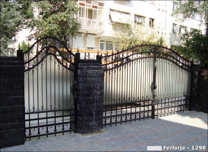 Ferforje Bahçe Kapısı Modelleri Sürgülü Otomatik Demir Kapı 1298