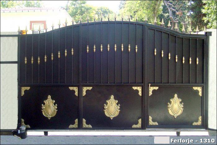 Ferforje Bahçe Kapısı Modelleri Sürgülü Otomatik Demir Kapı 1310