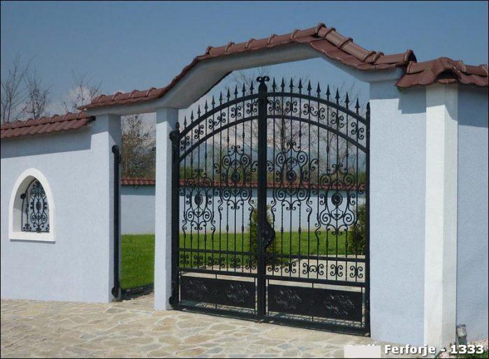 Ferforje Bahçe Kapısı Modelleri Sürgülü Otomatik Demir Kapı 1333