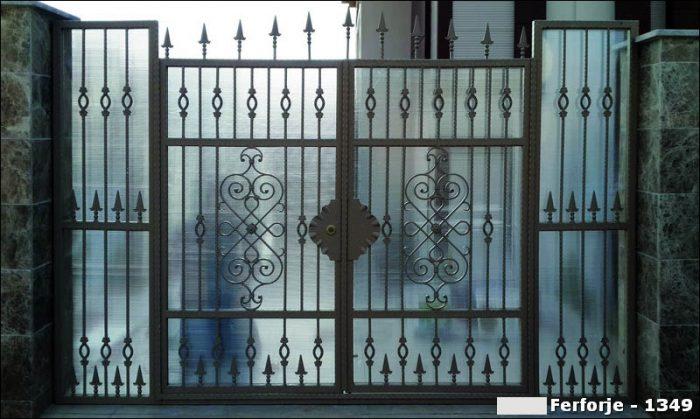 Ferforje Bahçe Kapısı Modelleri Sürgülü Otomatik Demir Kapı 1349