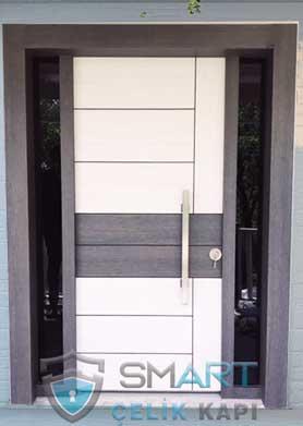 Beyaz Villa Kapısı Çift Desenli Angel