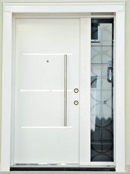 villa beyaz villa giriş kapısı sarıyer villa kapısı modelleri bina giriş kapısı modelleri