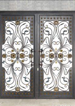 Ferforje Kapı Modelleri Apartman Giriş Kapısı FF 1081