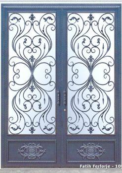 Ferforje Kapı Modelleri Apartman Giriş Kapısı FF 1085