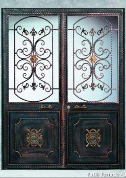 Ferforje Kapı Modelleri Apartman Giriş Kapısı FF 1087