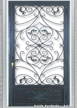 Ferforje Kapı Modelleri Apartman Giriş Kapısı FF 1105
