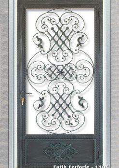 Ferforje Kapı Modelleri Apartman Giriş Kapısı FF 1106