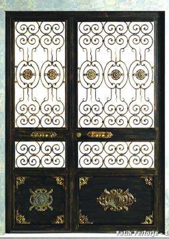 Ferforje Kapı Modelleri Apartman Giriş Kapısı FF 1111
