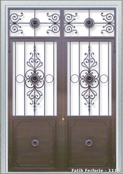 Ferforje Kapı Modelleri Apartman Giriş Kapısı FF 1114