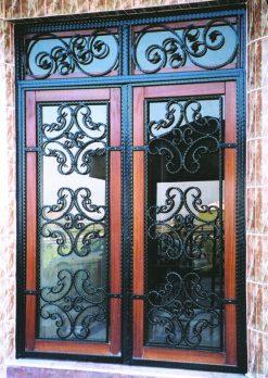 Ferforje Kapı Modelleri Apartman Giriş Kapısı FF 1149