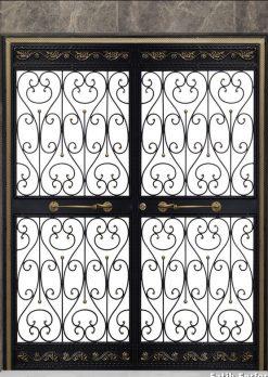Ferforje Kapı Modelleri Apartman Giriş Kapısı FF 1342