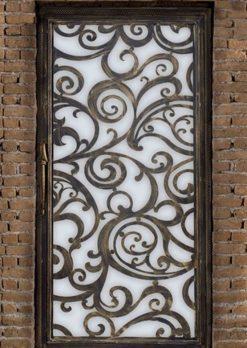 Ferforje Kapı Modelleri Apartman Giriş Kapısı FF 1351