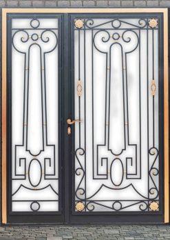 Ferforje Kapı Modelleri Apartman Giriş Kapısı FF 1360
