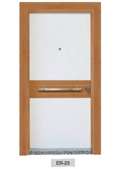 Modern Çelik Kapı Ahşap Kaplama ER-23