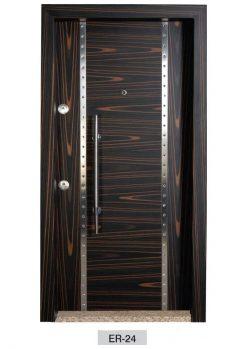 Modern Çelik Kapı Ahşap Kaplama ER-24