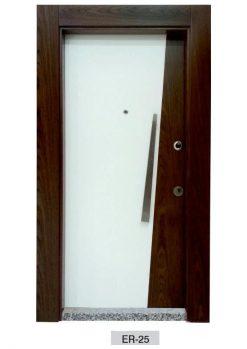 Modern Çelik Kapı Ahşap Kaplama ER-25