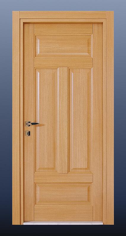 Ahşap Oda Kapısı Doğal Meşe KD4d