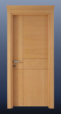Ahşap Oda Kapısı Doğal Meşe NK15