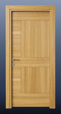 Ahşap Oda Kapısı Doğal Meşe NK17