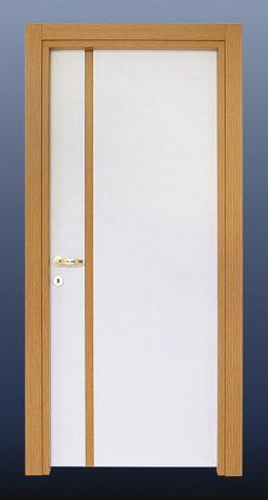 PVC Oda Kapısı Beyaz Bambu S21
