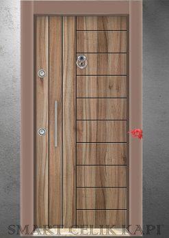 Ekonomik Çelik Kapı Modelleri Isparta Ceviz 303