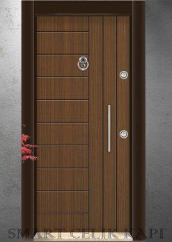 Ekonomik Çelik Kapı Modelleri Alpi Ceviz 303