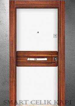Ekonomik Çelik Kapı Modelleri Elma Kabartma Highgloss Beyaz