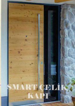 Villa Giriş Kapısı Ahşap Kaplama SVK01