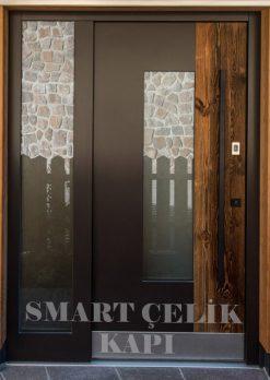 Villa Giriş Kapısı Ahşap Kaplama SVK010