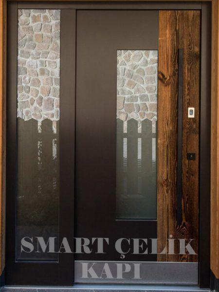 SVK-010 kompozit villa kapısı kompak lamine villa kapısı modelleri villa giriş kapıları villa giriş kapısı modelleri özel tasarım villa kapıları