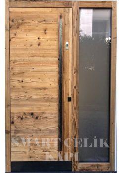 Villa Giriş Kapısı Ahşap Kaplama SVK011