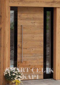 Villa Giriş Kapısı Ahşap Kaplama SVK012