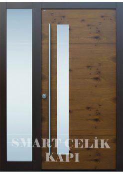 Villa Giriş Kapısı Ahşap Kaplama SVK013