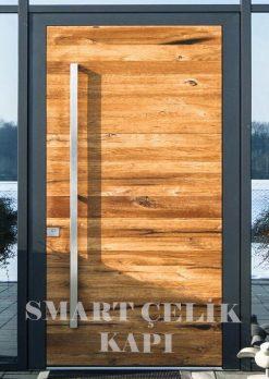 Villa Giriş Kapısı Ahşap Kaplama SVK014